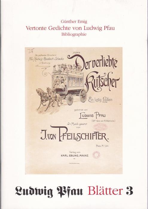 Vertonte Gedichte Von Ludwig Pfau