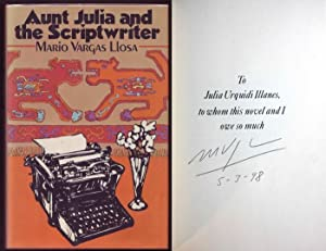 Aunt Julia and the Scriptwriter. Signed by author