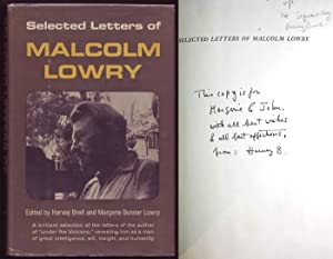 Selected Letters. Edited by Harvey Breit and Margerie Bonner Lowry. Signed by the editor Harvey B...