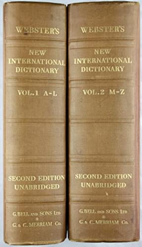 Webster's New International Dictionary of the English: Webster, Allan Neilson
