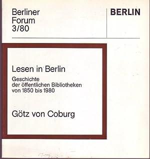 Lesen in Berlin. Geschichte der öffentlichen Bibliotheken: Coburg, Götz von