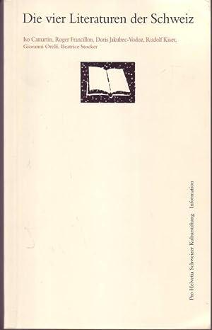 Die vier Literaturen der Schweiz: Beatrice Stocker u.