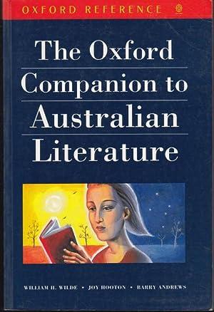 The Oxford Companion to Australian Literature: Wilde, William H.;