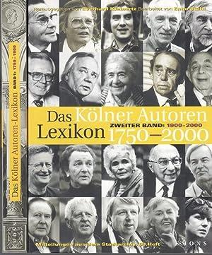 Kölner Autoren-Lexikon 1750-2000. Zwei Bände. Band 1: Wegener, Gertrud /