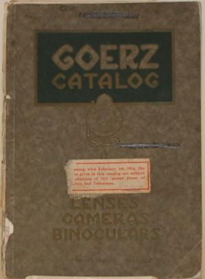 GOERZ CATALOG: C. P. Goerz