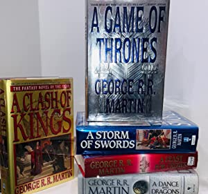 A Song of Ice and Fire (Signed Five Novels): A Game of Thrones, A Clash of Kings, A Storm of Swor...
