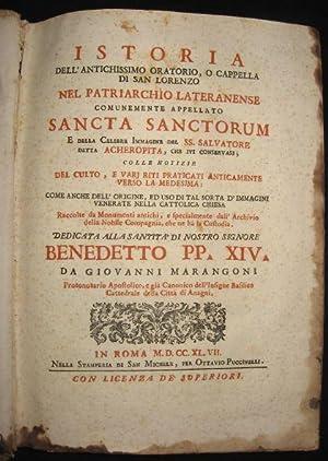 Istoria dell'antichissimo oratorio o cappella di San: Marangoni, Giovanni (1673-1753)