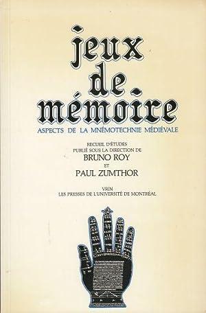 Jeux De Mémoire Aspects De La Mnémotechnie: Roy, Bruno &