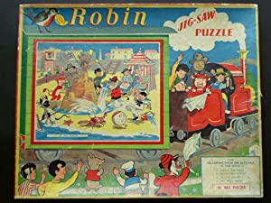 ROBIN JIG-SAW PUZZLE AT THE SEASIDE No. 7 in series. Featuring Tai-Lu, the magical Siamese Cat,Ti...