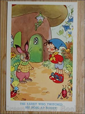 NODDY POSTCARD THE RABBIT WHO TWITCHED HIS NOSE AT NODDY