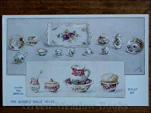 QUEEN¿S DOLLS¿ HOUSE POSTCARD TEA SERVICE & TOILET SET