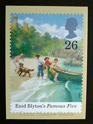 POSTCARDS: STAMP CARD FAMOUS FIVE