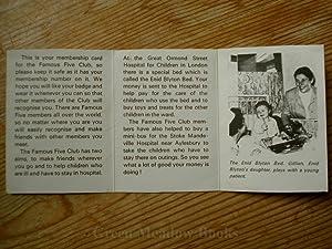FAMOUS FIVE ORIGINAL CLUB MEMBERSHIP CARD: BLYTON Enid
