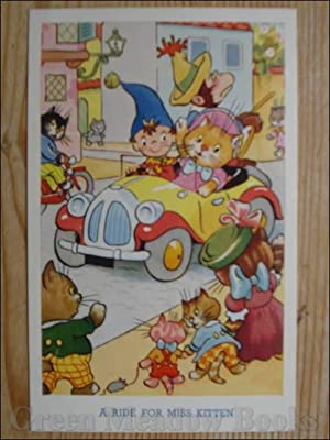 NODDY POSTCARD A RIDE FOR MISS KITTEN