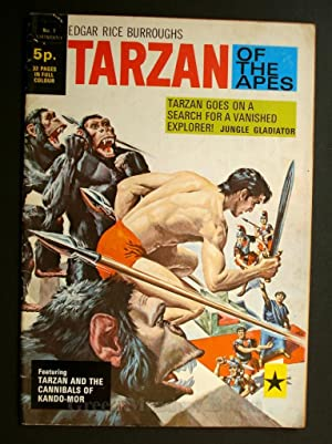 EDGAR RICE BURROUGHS TARZAN OF THE APES No. 1! TARZAN GOES ON A SEARCH FOR A VANISHED EXPLORER! J...