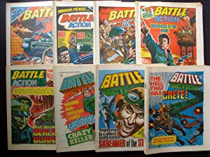 SUPER SCARCE COLLECTABLE COMICS! BATTLE ACTION 1978 ISSUES! 7th JANUARY 1978 TO 23rd DECEMBER 1978