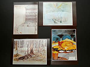 SET OF EIGHT LARGE POSTCARDS plus ORIGINAL ENVELOPES WITH TOLKIEN'S OWN ILLUSTRATIONS TO THE LORD...