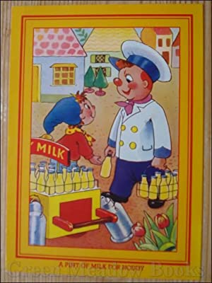 NODDY POSTCARD A PINT OF MILK FOR NODDY (Same picture as original 50's card)