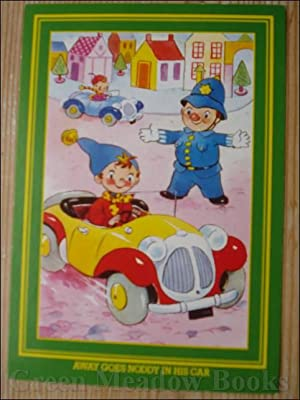 NODDY POSTCARD AWAY GOES NODDY IN HIS CAR (Same picture as original 50's card)