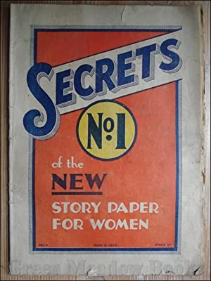 SECRETS No. 1 OF THE NEW STORY PAPER FOR WOMEN November 5th 1932