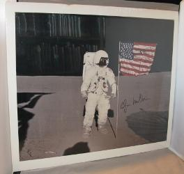 Photograph of the Moonwalker on the Moon. Signed By Mitchell.: Astronaut Photograph] Mitchell, ...