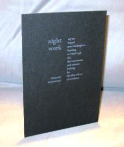 Night Work: A Poem Postcard.: Bukowski, Charles.