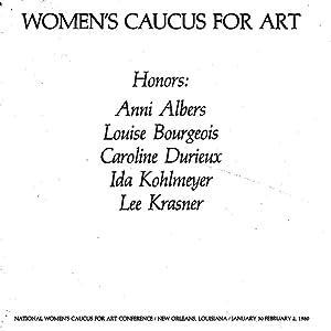 Women's Caucus for Art Honors: Anni Albers,: Leigh Ann Miller