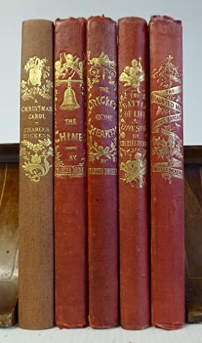 Christmas Books. 5 vols. 1. editions.: DICKENS, CHARLES: