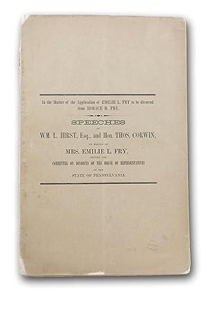 Emilie L. Fry's Petition for a Divorce.: Divorce]. (Fry, Emilie