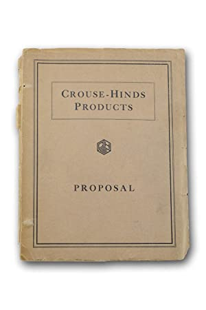 Crouse-Hinds Products: Proposal [wrapper title].