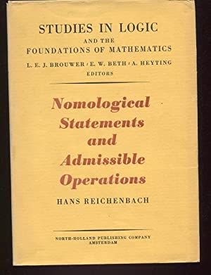Nomological Statements and Admissible Operations. (Studies in Logic and the Foundations of ...