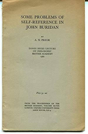 Some Problems of Self-Reference in John Buridan.: Prior, A. N.