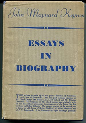 Essays in Biography.: Keynes, John Maynard.