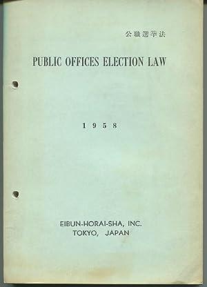 Public Offices Election Law.: EHS Law Bulletin Series.