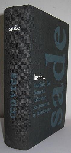 Oeuvres. Justine ou les malheurs de la vertu. Dialogue entre un prêtre et un moribon. . Eug&...