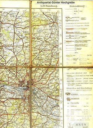 Übersichtskarte von Mitteleuropa. Hier Blatt L 54 Hamburg.: Preußische Landesaufnahme - ...