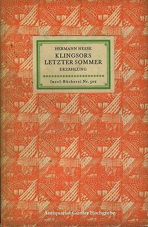 Klingsors letzter Sommer. Erzählung.: Nr. 502,2: Hesse, Hermann: