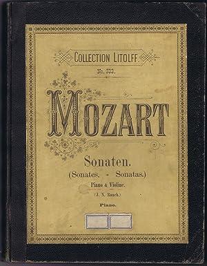 Sonates pour piano et violon de W. A. Mozart.: Mozart, W. A. und Johannes N. Rauch: