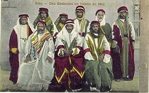 Carte postale. Alep - Des Bedouins en habits de fete: Missirlian, K.