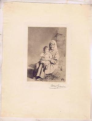 Großmutter und Enkelkind.: Gianini, Albert (4.3.1876 - 12.2.1937)