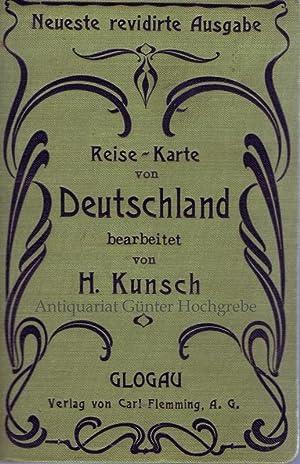 Reise-Karte von Deutschland und den Nachbarstaaten. Nach F. Handtkes Post- und Reise-Karte ...
