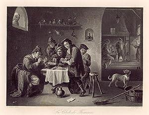 Die Rauchgesellschaft / Le Club de Fumeurs.: Teniers, David: