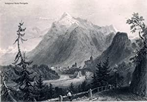 Entrance to Simmenthal (Simmental, Canton Bern).: Bartlett, William Henry, 20. M�rz 1809 - 13. ...