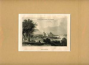 Gripsholm. Stahlstich aus 'Meyer's Universum'.