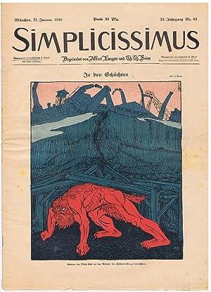 Simplicissimus, begründet von Albert Langen und Th. Th. Heine. 23. Jahrgang, Nr. 43, 21. ...