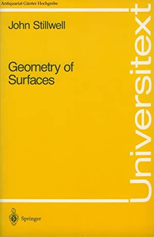 Geometry of Surfaces.: Stillwell, John: