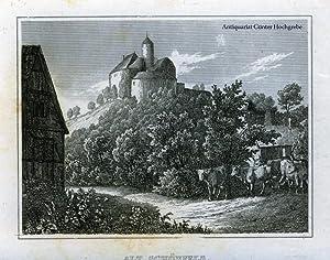 Alt Schönfels (bei Glauchau). Stahlstich aus 'Das kleine Universum'.