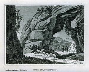 Der Kleinstein. (Sächsische Schweiz). Stahlstich aus 'Das kleine Universum'.
