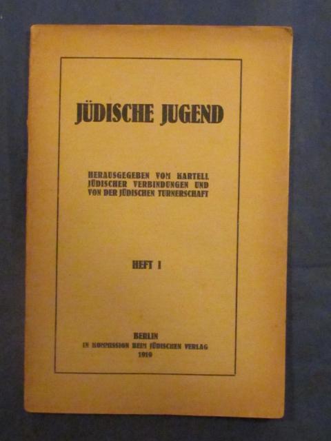 Jüdische Jugend Herausgegeben Vom Kartell