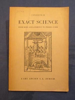 Catalogue 22. Exact Science. From Hero Alexandrinus: L'Art Ancien, Zurich